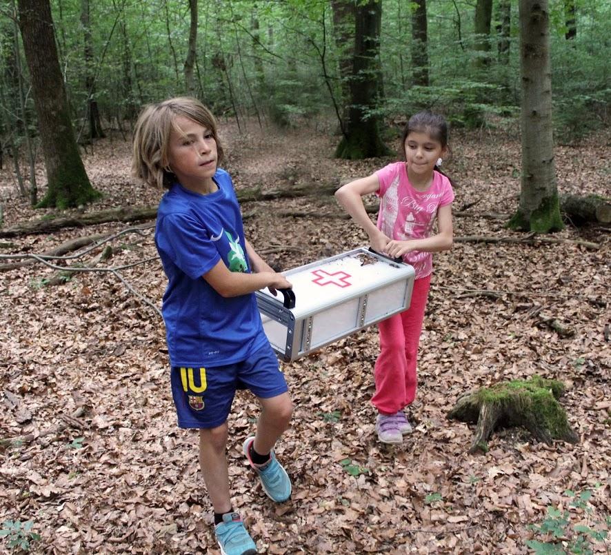 Tragen im Forstenrieder Wald